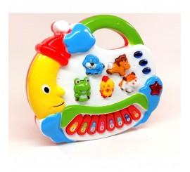 """Muzikinis žaislas sintezatorius su melodijom ir gyvūnų garsais """"Labanakt vaikučiai"""""""
