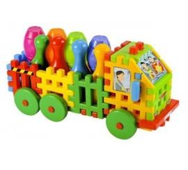 """Vaflinės kaladėlės """"Sunkvežimis su kėgliais"""""""