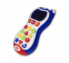 Telefonas su šviečiančiu ekranu ir mygtukais