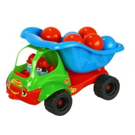 Mašinytė su kamuoliukais