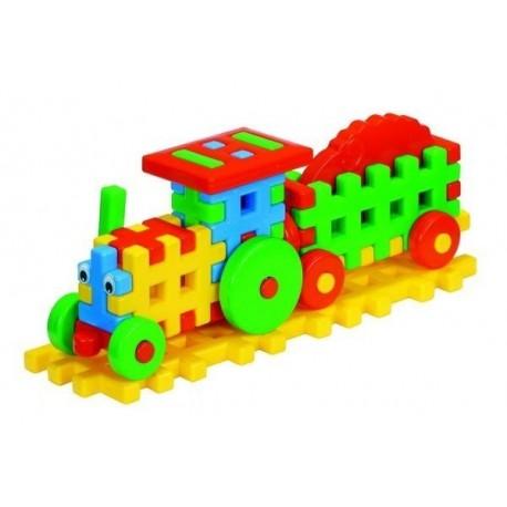 Traukinukas iš vaflinių kaladėlių